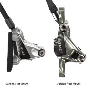 Le mostramos cómo reconocer las versiones de pinzas Flat Mount y Post Mount para una bicicleta de carretera.